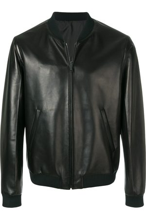 Prada Faux leather bomber jacket