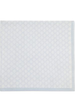 Gucci GG pattern wool baby blanket