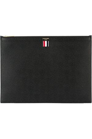 Thom Browne Large Zipper Laptop Holder(39X28CM) In Pebble Grain