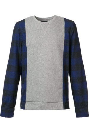 MOSTLY HEARD RARELY SEEN Men Sweatshirts - Plaid sleeves sweatshirt