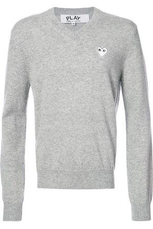 Comme des Garçons Men Sweatshirts - V-neck pullover with white heart