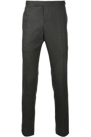 Thom Browne Men Skinny Pants - Low Rise Skinny Side Tab Trouser In Super 120's Twill