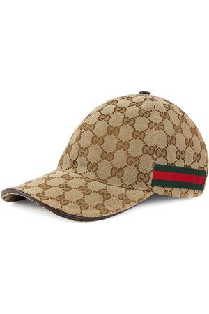 Gucci Men Hats - Original GG canvas baseball hat with Web