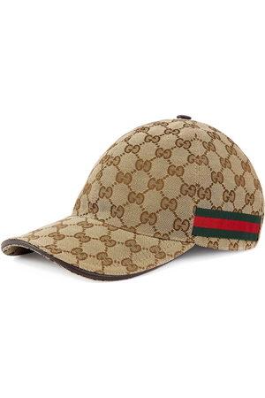 Gucci Men Hats - Original GG canvas baseball hat with Web