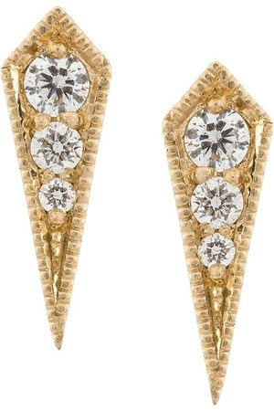 Lizzie Mandler 18kt gold 'Kite' diamond stud earrings