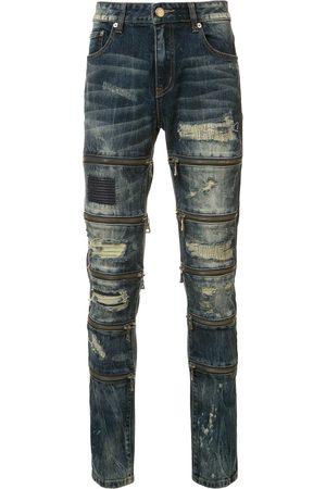 God's Masterful Children Men Skinny - Zipped ripped skinny jeans