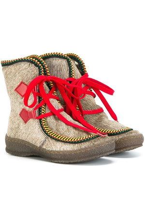 PèPè Pony fur trimmed boots