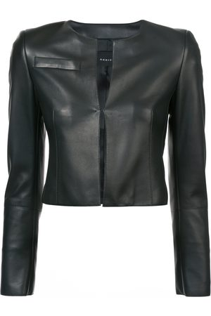 AKRIS Women Leather Jackets - Cropped fitted jacket