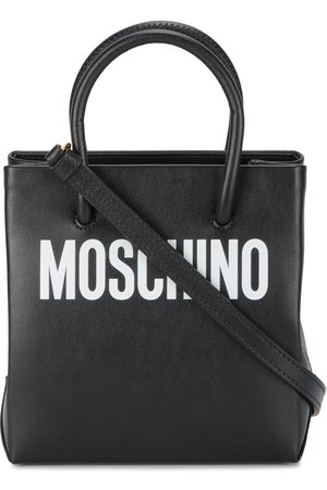 Moschino Logo print leather tote bag
