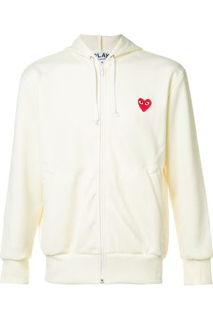 Comme des Garçons Embroidered zipped hoodie