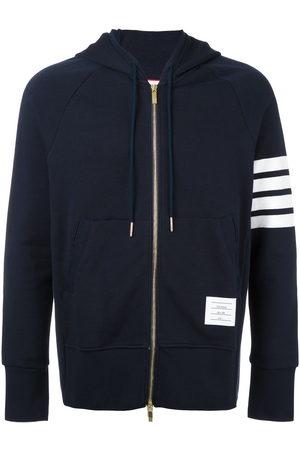 Thom Browne 4-Bar jersey zip-up hoodie