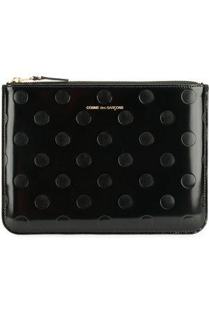 Comme des Garçons Embossed polka dots wallet