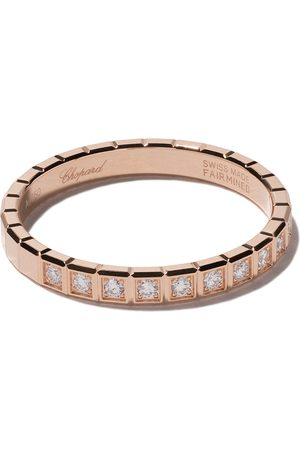 Chopard 18kt rose gold Ice Cube diamond ring