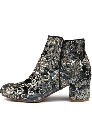 I LOVE BILLY Women Ankle Boots - Kanye Steel Sparkle Boots Womens Shoes Dress Ankle Boots