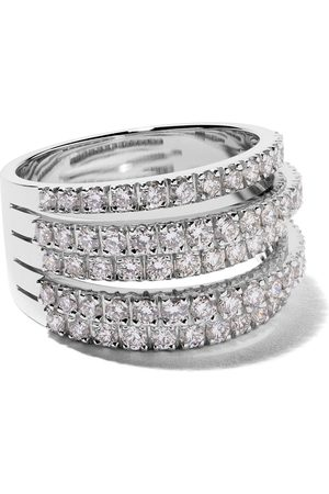 De Beers 18kt Five Line diamond ring