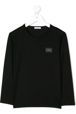 Dolce & Gabbana Boys Long Sleeve - Logo plaque long sleeve top