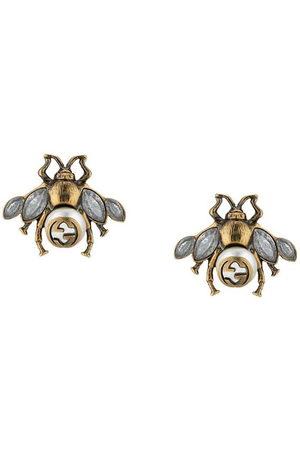 Gucci Women Earrings - Bee earrings with crystals