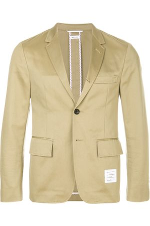 Thom Browne 4-Bar unconstructed single-breasted jacket