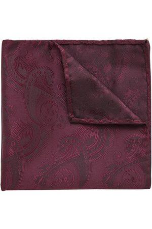 Yd. Men Bow Ties - Cordova Pocket Square Burgundy One