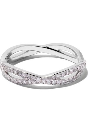 De Beers 18kt Infinity full-pavé diamond band