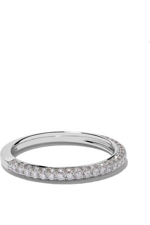 De Beers 18kt DB Darling half pavé diamond band