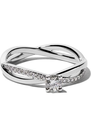 De Beers Platinum My First Infinity solitaire diamond ring