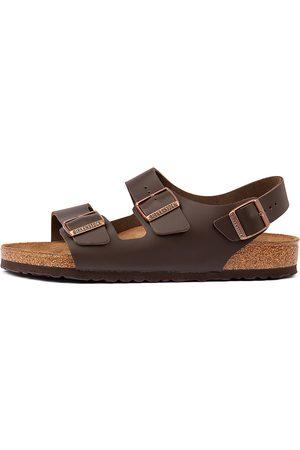 Birkenstock Men Flat Shoes - Milano Bk Dark Sandals Mens Shoes Resort Sandals Flat Sandals