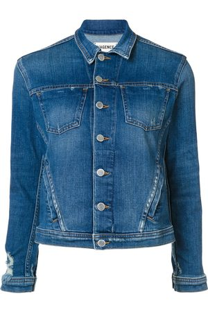 L'Agence Women Denim Jackets - Buttoned denim jacket