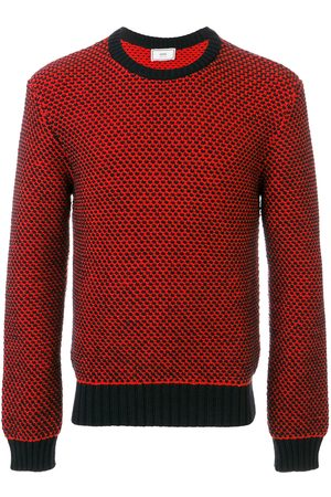 Ami Men Sweatshirts - Crew neck Birdseye Stitch Sweater