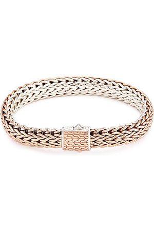 John Hardy Men Bracelets - Silver bronze reversible woven chain bracelet