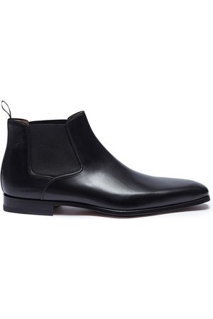 Magnanni Burnished leather Chelsea boots