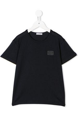 Dolce & Gabbana Boys Short Sleeve - Logo patch T-shirt