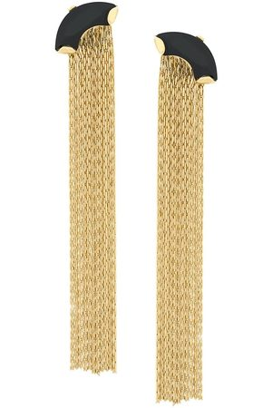 WOUTERS & HENDRIX My Favourite onyx and chain earrings