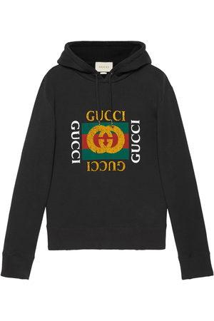 Gucci Men Hoodies - Logo print hoodie