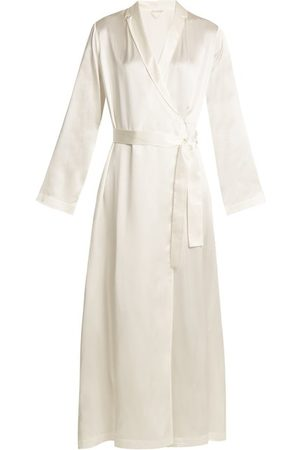 La Perla Women Bathrobes - Silk Satin Robe - Womens - Ivory