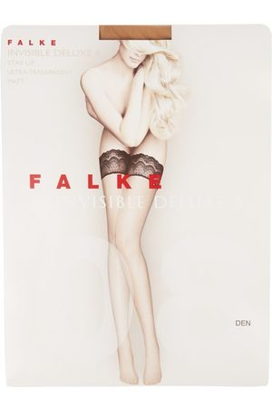 Falke Women Stockings - Invisible Deluxe 8 Hold Ups - Womens - Nude