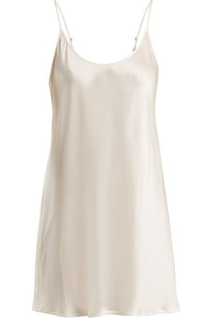 La Perla Semplice Scoop Neck Silk Satin Slip - Womens - Ivory