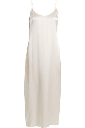 La Perla Scoop Neck Silk Satin Slip - Womens - Ivory