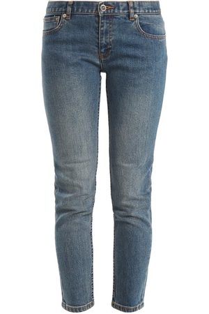 A.P.C Etroit Court Low-rise Skinny Jeans - Womens - Denim