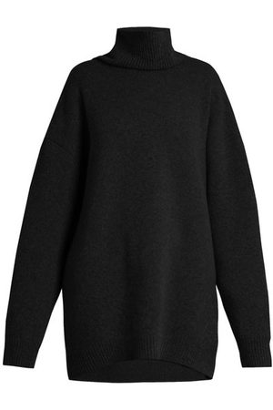 Raey Displaced-sleeve Roll-neck Wool Sweater - Womens
