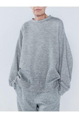 Raey Women Sweatshirts - Crew-neck Cashmere-blend Sweatshirt - Womens - Marl