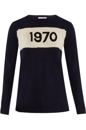 BELLA FREUD 1970-intarsia Cashmere Sweater - Womens - Navy