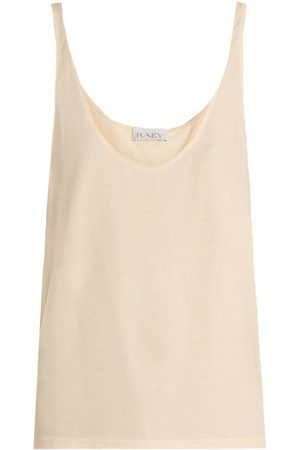 Raey Skinny Strap Cotton Jersey Vest - Womens - Nude