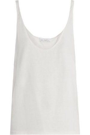 Raey Skinny Strap Cotton Jersey Vest - Womens