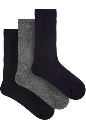 Raey Set Of Three Silk Socks - Mens - Multi