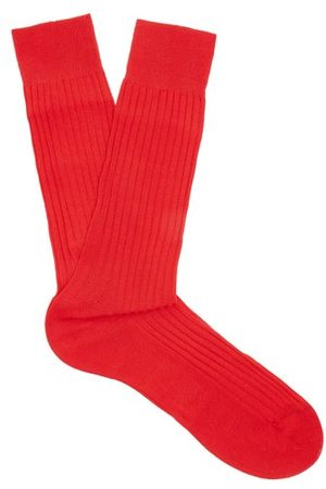 Pantherella Danvers Ribbed-knit Socks - Mens