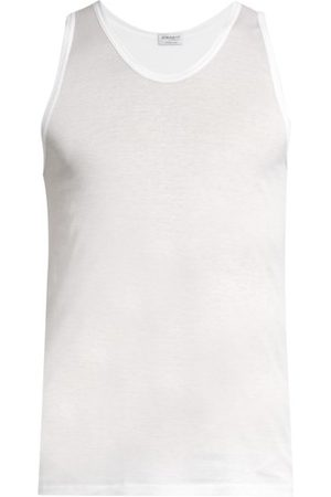 Zimmerli Royal Classic Scoop Neck Cotton Vest - Mens