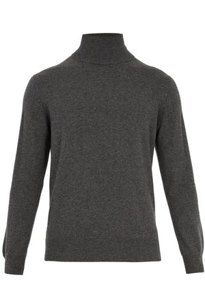 Raey Roll-neck Cashmere Sweater - Mens - Charcoal
