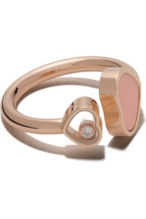 Chopard 18kt rose gold Happy Hearts diamond ring