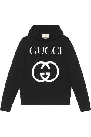 Gucci Men Hoodies - Hooded sweatshirt with Interlocking G